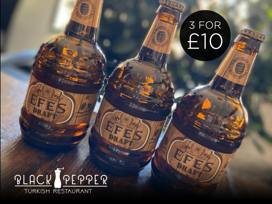 EFES TURKISH BEER NOW 3 FOR £10