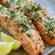 Oven baked Salmon Fillet
